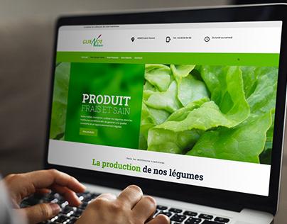 Producteur de légumes - site internet responsive