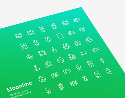 """Linear Icons """"Moonline"""""""