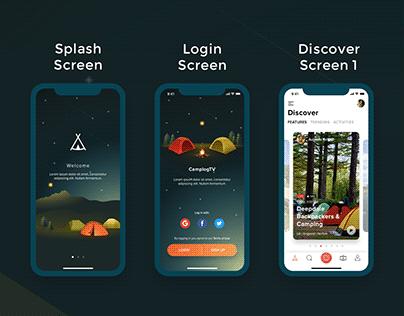 iOS UI and logo design for broadcasting App