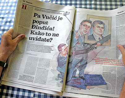The story of one editorial newspaper illustration