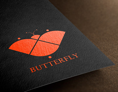 Butterfly logo mockup