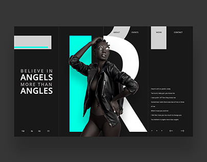 Believe In Angels More Than Angles Web Ui Design