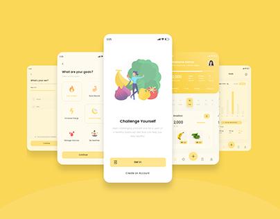 Calorie Counter App UI/UX Design | Free Download