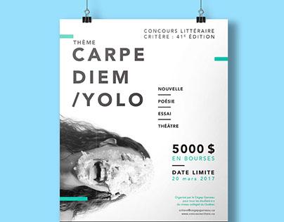 Affiche - Carpe Diem / Yolo
