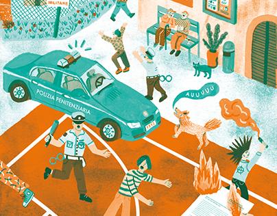 Illustrations for PELO MAGAZINE