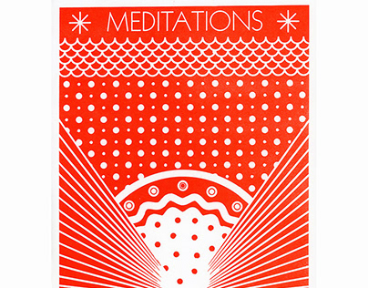 Broadside - Meditations Laser engraved lino block