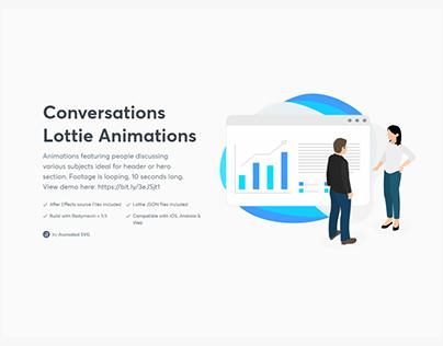 Conversation Lottie animation