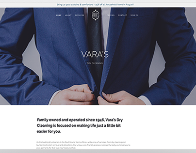 Corporate Branding: Vara's Dry Cleaning