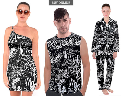 BW Graffiti Style Print Collection