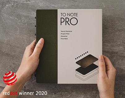 TO NOTE PRO 系列產品設計規劃