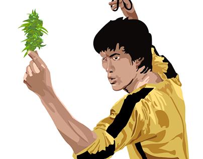 BRUCE LEE LOVES WEED