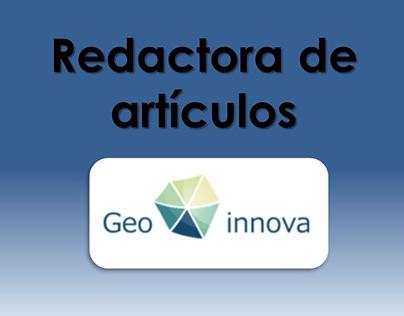 Redactora freelance - Asociación GeoInnova