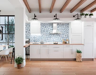 Interior design for a refurbishment flat
