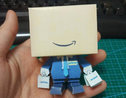 Papercraft design for Amazon Prime day