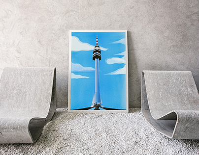 Avala tower - illustration