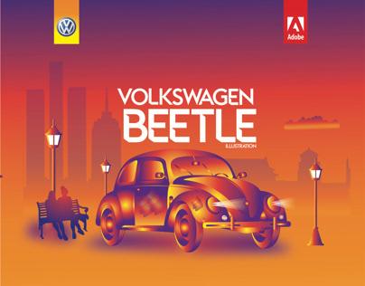 Volkswagen Beetle Illustration
