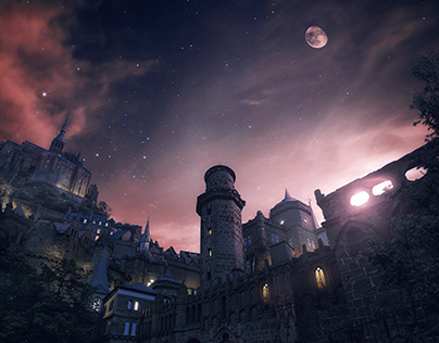 Castle Night | Matte Painting