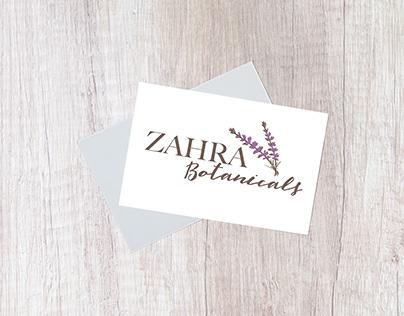 LOGO DESIGN - ZAHRA BOTANICALS