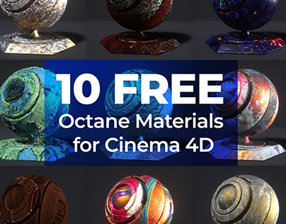 10 Free Octane Materials for Cinema 4D