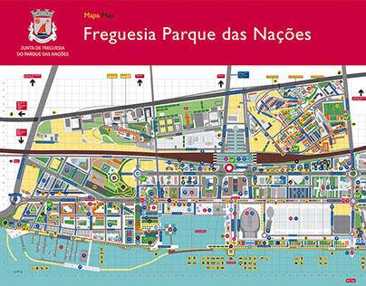 parque das nações mapa Mapa da Freguesia do Parque das Nações on Behance parque das nações mapa