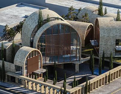 Ferdowsi Cultural Complex in Iran by Saeb Alimmohammadi