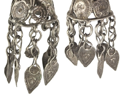 Featured ancient collectible: Persian earrings