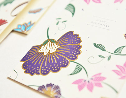 Batik-Inspired Greeting Cards