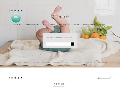 HOMEPAGE | GRACE BABY&CHILD WEBSITE