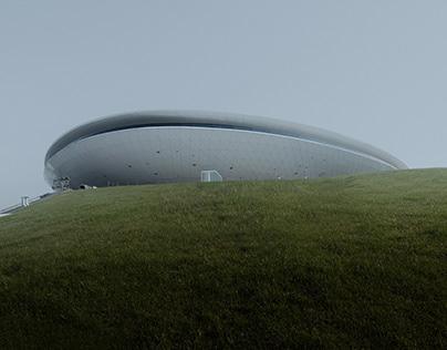 Mercedes Benz Arena & UFO