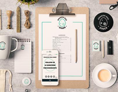 Dragon Egg Diner (Logo, App, Branding)