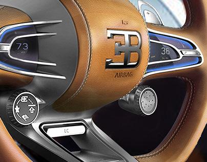 Steering wheel for Bugatti.