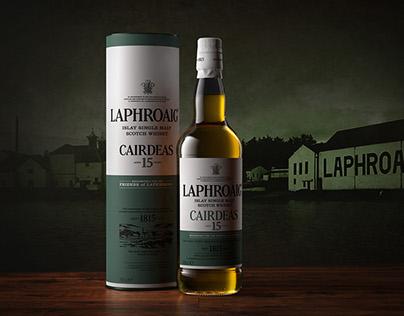 Laphroaig Bottle & Tube Visuals