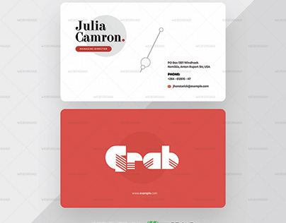 Creative Premium Business Card Template | Websroad