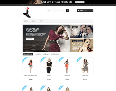 Online store to sell products shop