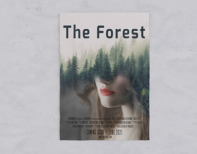 The Forest (double exposure movie poster)