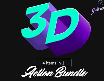 3D Photoshop Actions