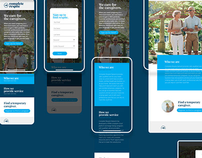Complete Respite Ad Series + Landing Page