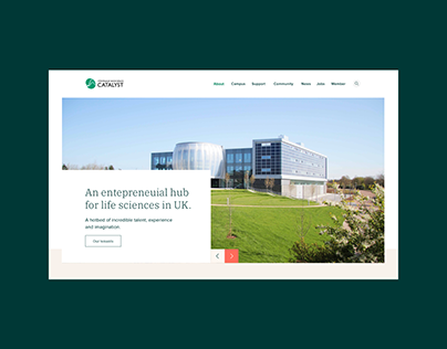 Brand and website for Stevenage Bioscience Catalyst