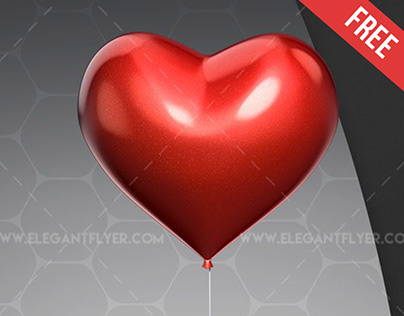 Heart Balloons Bandle – Free 3d Render Templates