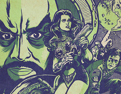 Glow in the Dark Sci-Fi Movie Festival Poster