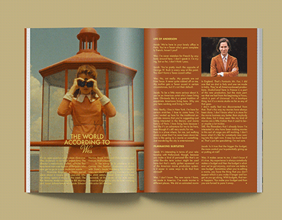 Interview layout | Wes Anderson