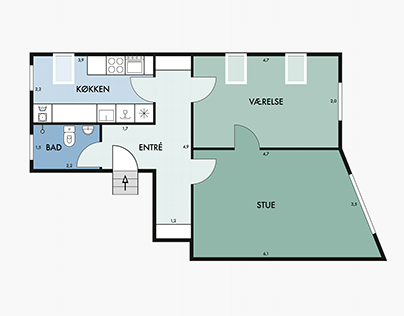Floor plan and icon design – Nybolig – real estate