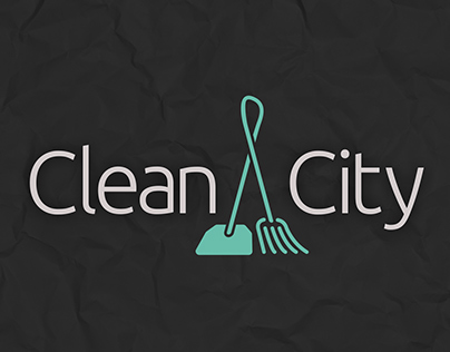 Clean City logo, website, simple animation