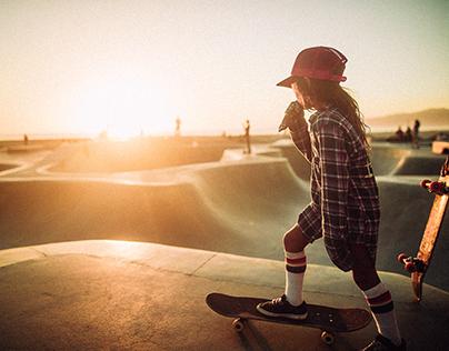 Sunsets at Venice Beach Skatepark