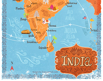 Map Illustration and InfographicFor Travel Blog