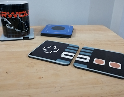 Retro Gaming Drink Costers
