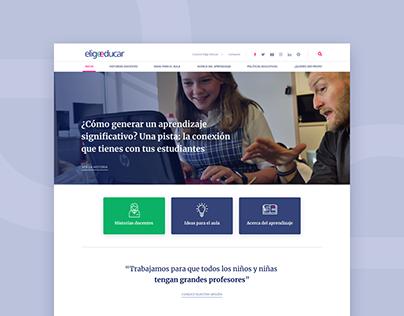 Elige Educar - Sitio Web