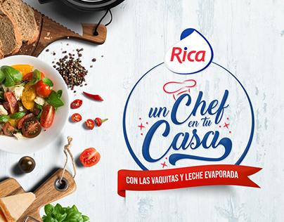 Campaña Rica Un Chef en tu Casa.