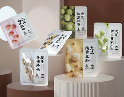 尚智×海宴天 | 休闲裹衣花生&大豆包装设计