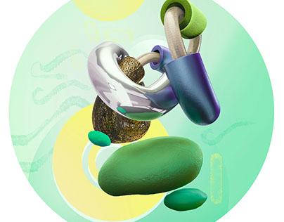 A Series of Digital Artworks entitled RNDM Elements